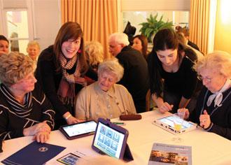 Senioren testen App-basiertes Gehirntraining