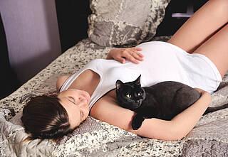 Toxoplasmose in der Schwangerschaft kann das Kind schwer schädigen
