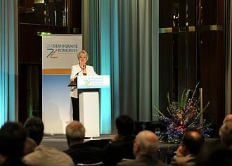 Annette Schavan auf dem Demografiekongress 2012