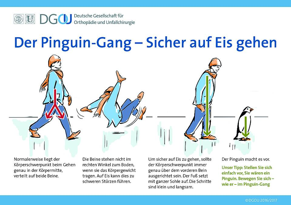 Der Pinguin-Gang: Mehr Stabilität auf glattem Boden