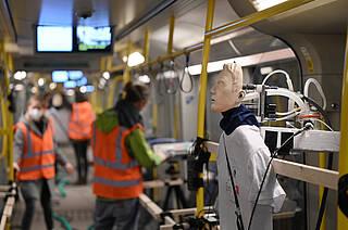 Corona-Aerosol-Testmessungen in der Berliner U-Bahn.