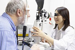 Augenarzt, Augenuntersuchung