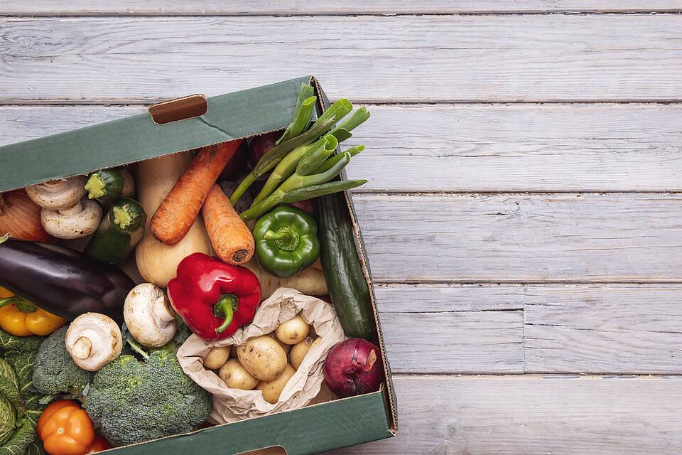 Gemüsekiste, Gemüse, Pflanzenkost
