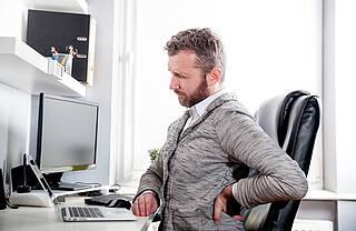 Rücken, Rückenschmerzen, sitzende Tätigkeit, Bewegungsmangel