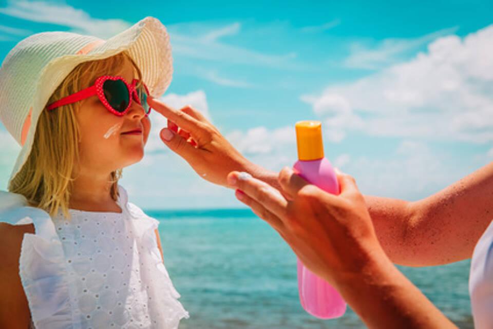 Kinder, Sonnenschutzmittel