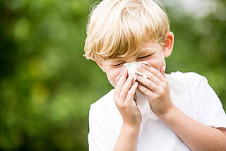 Heuschnupfen, Pollenalergie, Allergie, Niesen, Kind