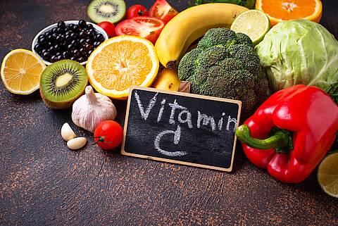Obst und Gemüse mit hohem Vitamin-C-Gehalt.