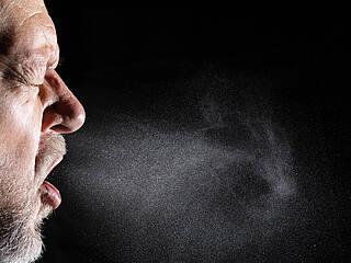 Bestimmte Menschen stoßen mehr Atemtröpfchen (Aerosole) aus als andere
