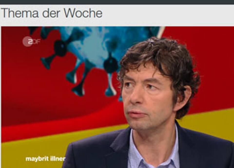 Virologe Christian Drosten bei Maybrit Illner: Bei Rauchern verlaufen Infektionen mit dem neuartigen Coronavirus schwerer.