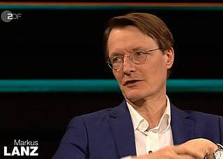 SPD-Gesundheitsexperte Karl Lauterbach im Gespräch mit Markus Lanz: Wir stehen am Anfang der Pandemie. Nicht am Ende.
