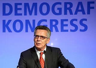 Dr. Thomas de Maizière auf dem Demografiekongress 2016: Zuwanderung kein Allheilmittel gegen demografisches Problem