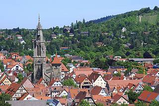 Blick auf die Altstadt von Reutlingen, Baden-Württemberg.w
