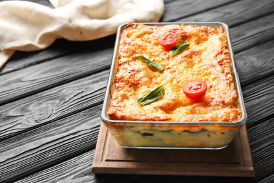gemüselasagne, pasta, nudeln, vegetarisch, kohlenhydate