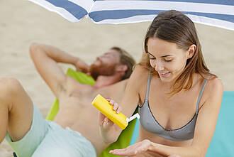sonnencreme, sonnenschutzmittel, sonnenschutz, UV-Strahlung, Strandurlaub, Sommer, Ferien
