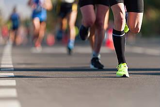 marathon, läufer, marathonlauf