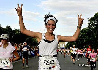 Frauen laufen gegen den Krebs