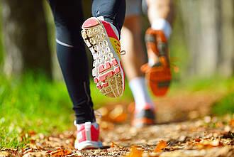joggen, laufen, park, herbst, bewegung, ausdauersport
