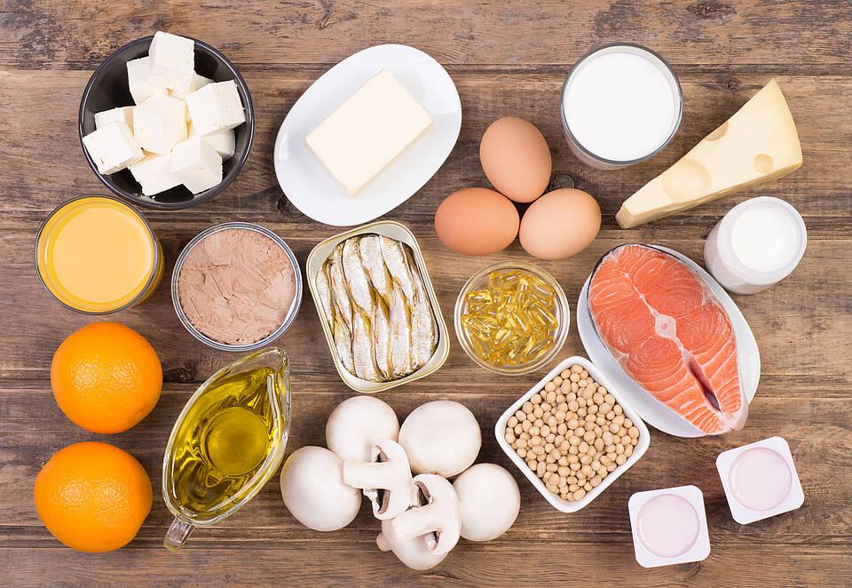 Nahrungsmittel mit Vitamin D