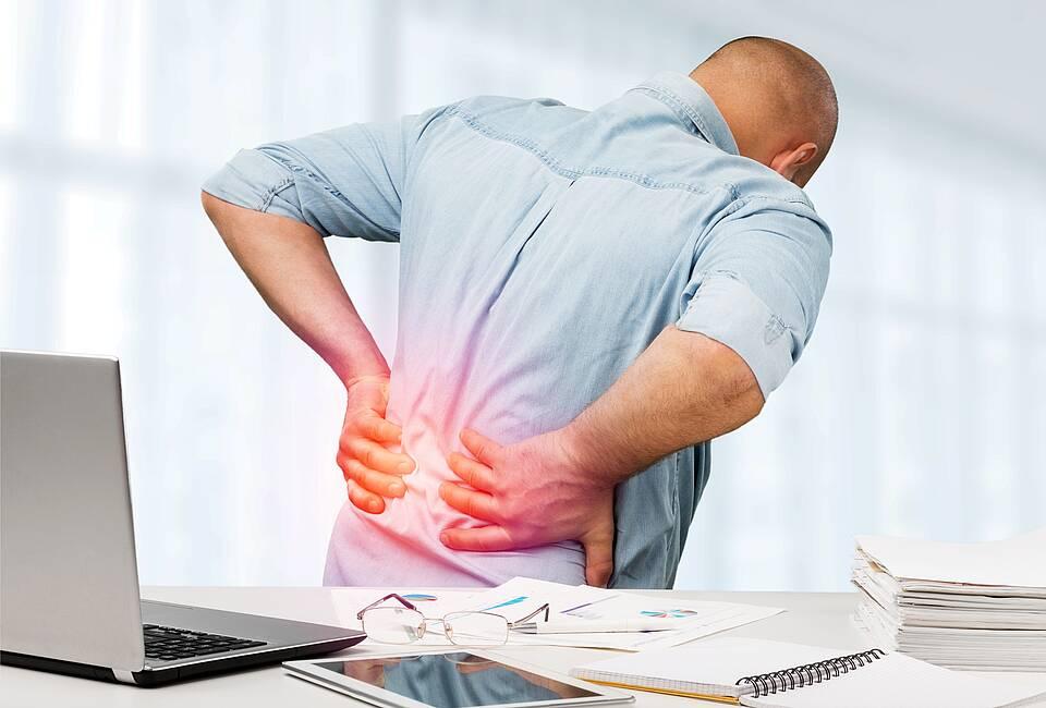 Rückenschmerzen können viele Ursachen haben - die Auslöser sind nicht restlos geklärt