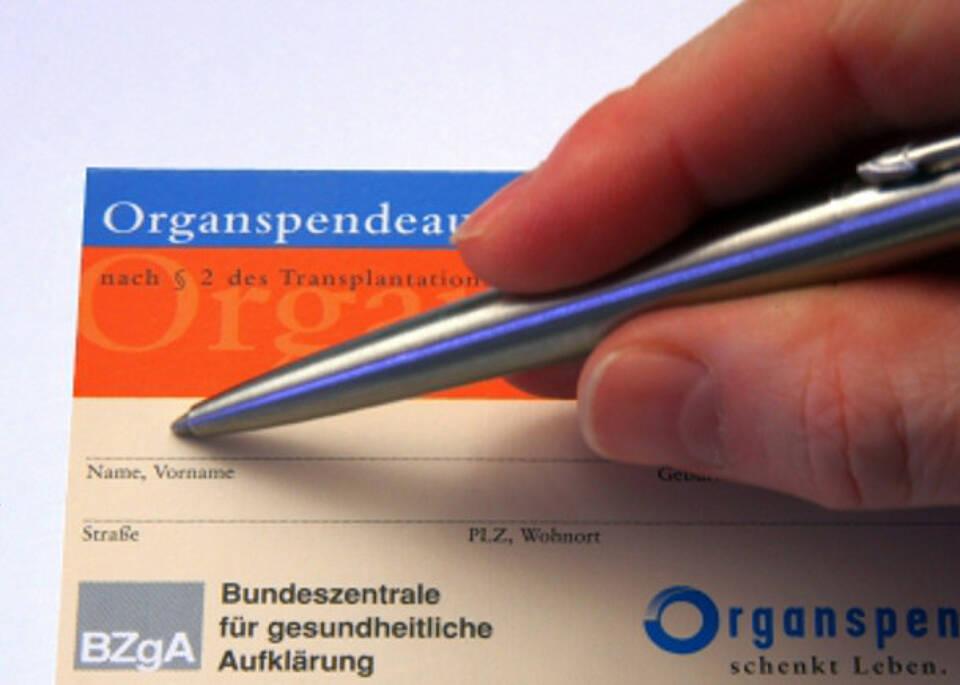 Neue Regeln für Organspende