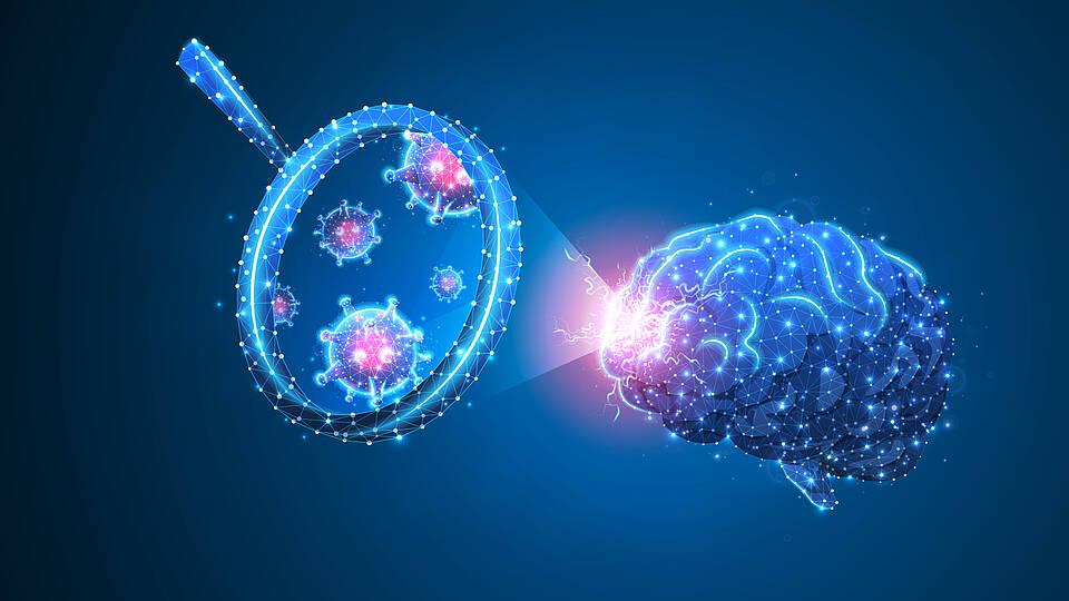 Coronavirus, Gehirn