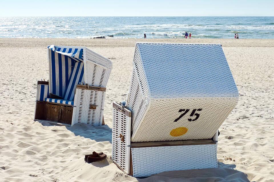 Strandkorb, Ostsee, Nordsee, Strandurlaub