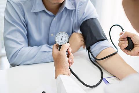 Die Blutdruckwerte geben Auskunft, ob ein Bluthochdruck vorliegt