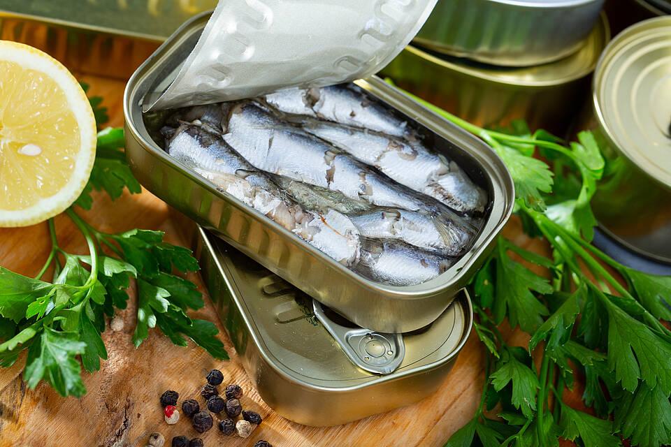 Sardinen in Olivenöl beugen Diabetes 2 vor