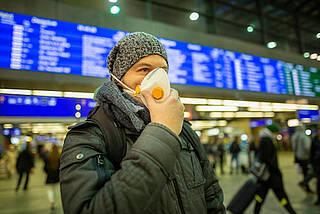 schutzmaske, infektionskrankheit, flugreisen