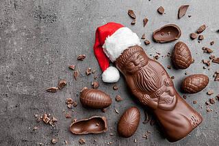schokoladenweihnachtsmann, schokolade, weihnachten, Süßigkeiten, Zucker