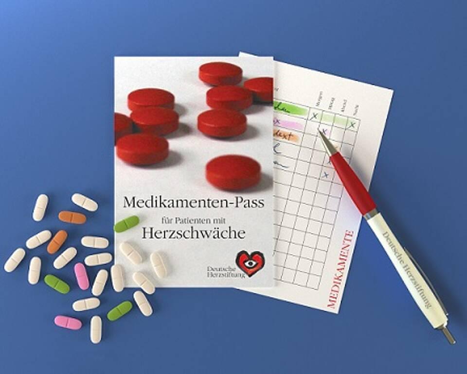 Medikamenten-Pass für Herzschwächepatienten der Deutschen Herzstiftung