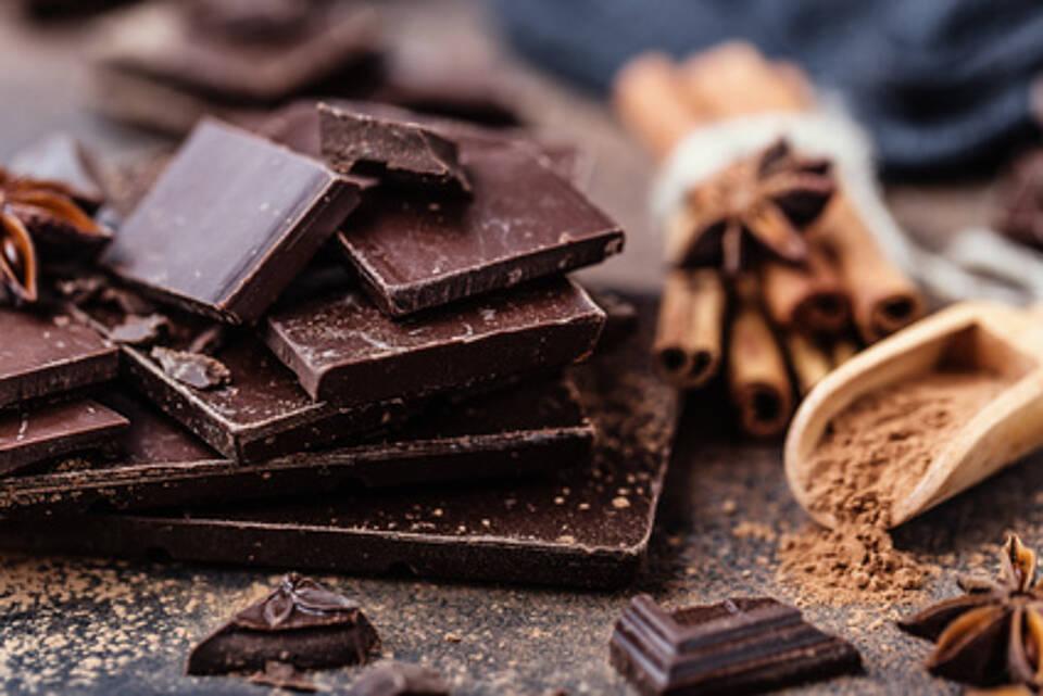 schokolade, bitterschokolade,, kakaobohnen