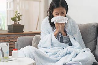 erkältet, erkältung, schnupfen, grippaler infekt