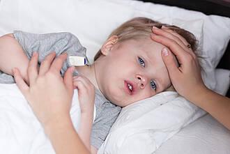Krankes Kind, Bettlägerig, Fiebermessen
