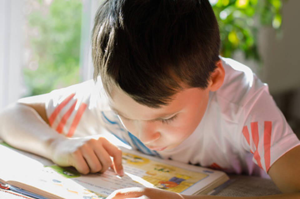 ADHS, Schulkind, konzentration, lernen, lesen, junge