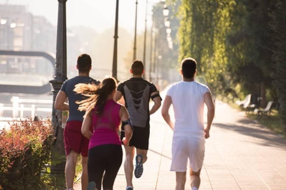Sport, Joggen, Sport im Freien, Feinstaub, Luftverschmutzung