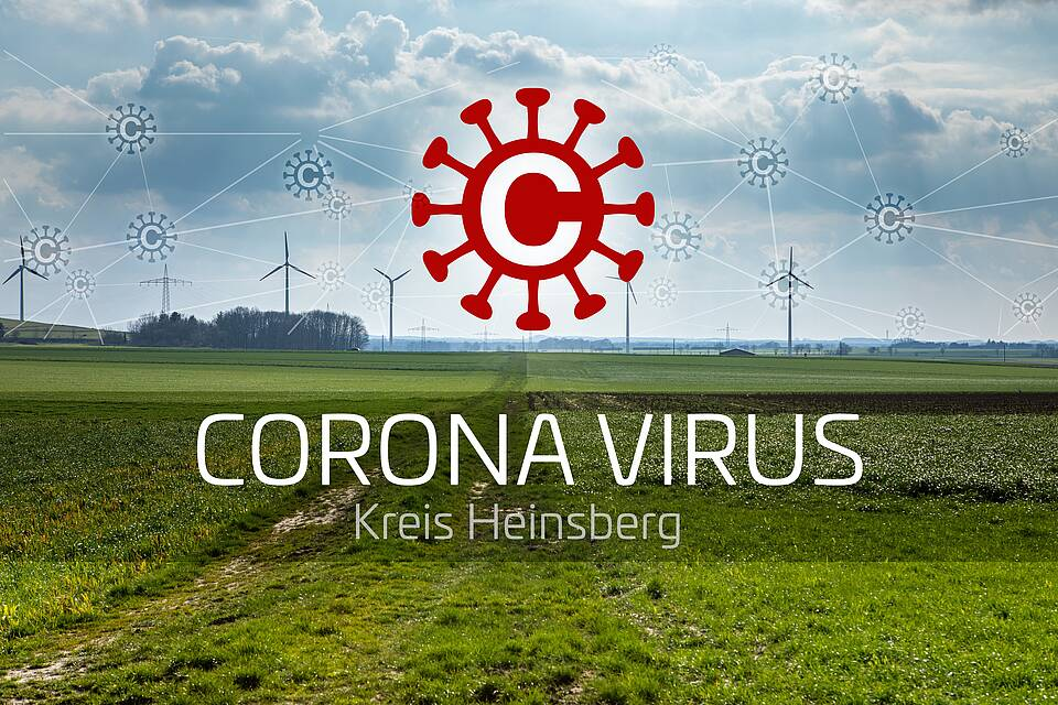 Landschaft Kreis Heinsberg mit weiten Wiesen und Windkraftanlagen