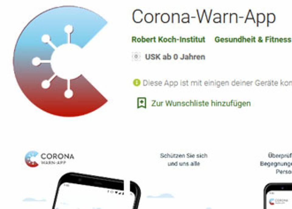 So sieht die neue Corona-Warn-App der Bundesregierung aus