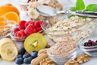 Ballaststoffe, Obst, Getreide, gesundes Essen