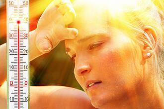 Hautprobleme bei Hitze