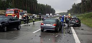 Unfall Autobahn Rettungshubschrauber