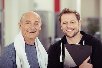 Beckenbodentraining kann auch Männer gegen Inkontinenz helfen