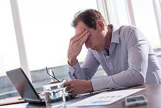 Depresson, niedergeschlagen, unkonzentriert, stress, überfordert, erschöpftf