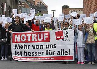 Verdi mobilisiert Krankenhäuser zu gemeinsamer Protestaktion