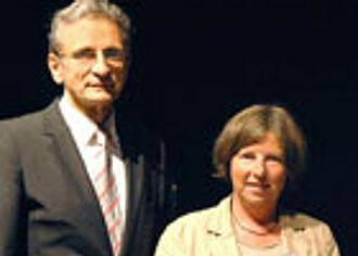 Prof. Schaffartzik und Senatorin Lompscher