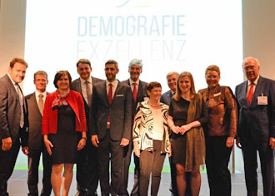 Verleihung des Demografie Exzellenz Award 2017 auf dem Demografiekongress in Berlin: Schon kleine Veränderungen können Großes bewirken