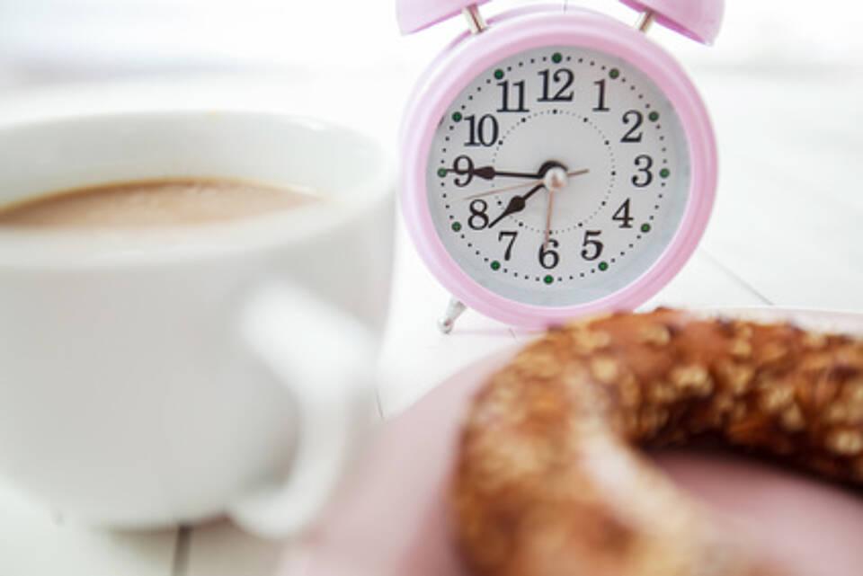 Uhr, Stundenplan, ernährungsgewohnheiten, frühstück