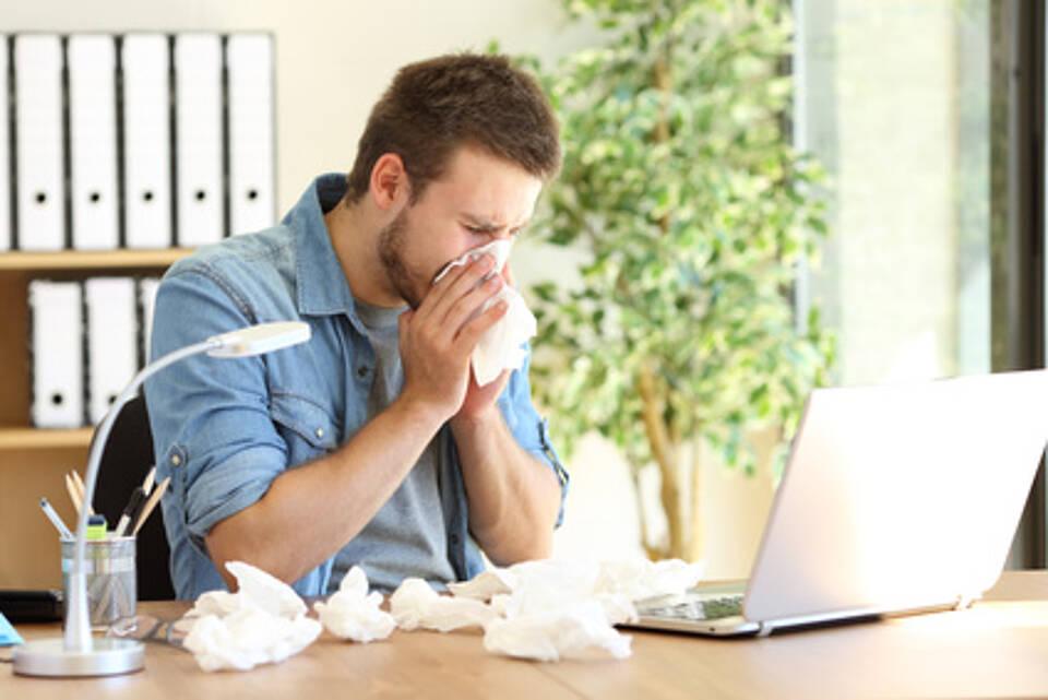 Grippe, Erkältung, Ansteckungsgefahr, Arbeitnehmer