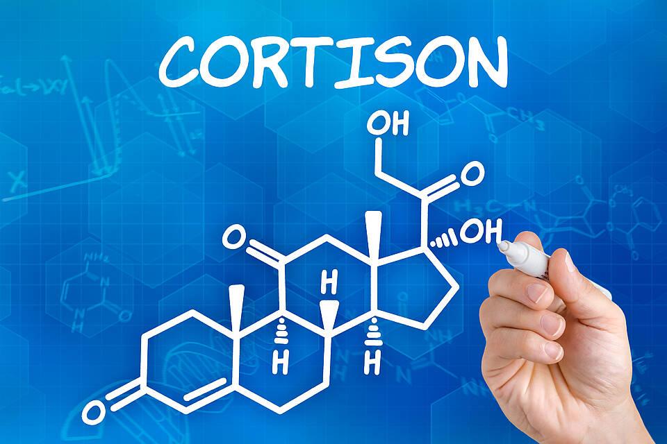 Cortisol ist ein körpereigenes Hormon. Für Cortison-Präparate wird es künstlich hergestellt