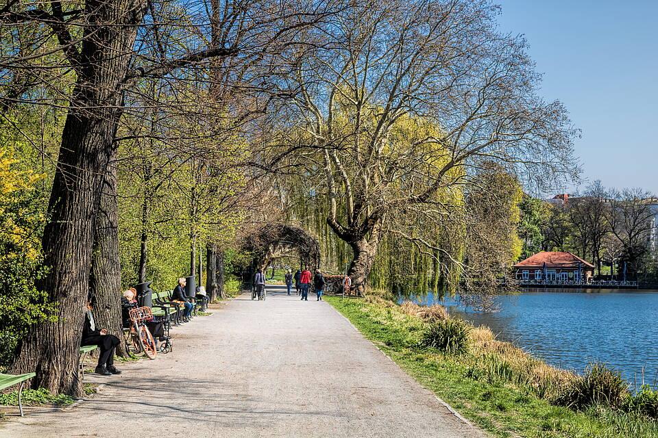 Spaziergang, im Grünen, Spazierweg